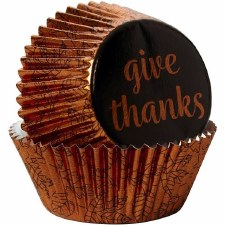 Fall Baking Cups, Standard- Give Thanks 24ct
