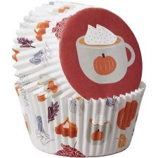 Fall Baking Cups, Standard- Welcome Fall 75ct