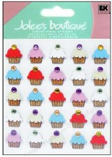Jolee's Birthday Dimensional Repeats Stickers- Cupcakes