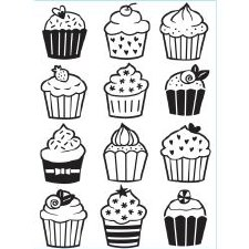 Darice Embossing Folder- Celebrations- Cupcakes