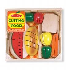 Melissa & Doug Food/Kitchen Play Set- Wooden Cutting Food