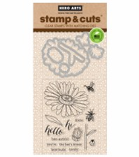 Hero Arts Stamp & Cut Set- Daisy & Bugs