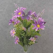 """Daisy & Butterfly Bush, 19""""- Purple"""