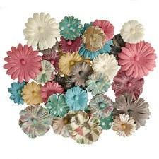 Floral Daisy Embellishments, 48ct- Prints