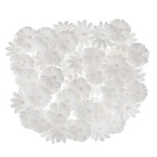 Floral Daisy Embellishments, 48ct- White