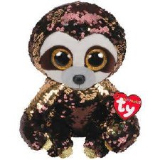 Beanie Flippable Sequins Collecion, Medium- Dangler the Sloth