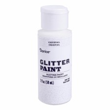 Glitter Paint, 2oz- Crystal