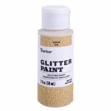 Glitter Paint, 2oz- Gold
