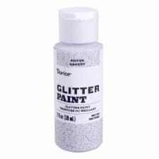 Glitter Paint, 2oz- Silver
