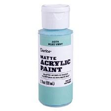 Matte Acrylic Paint, 2oz- Aqua