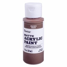 Matte Acrylic Paint, 2oz- Brown