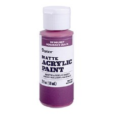 Matte Acrylic Paint, 2oz- Burgundy