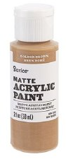 Matte Acrylic Paint, 2oz- Golden Brown