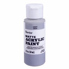 Matte Acrylic Paint, 2oz- Grey
