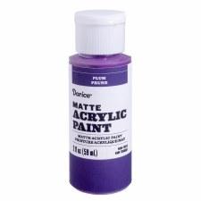 Matte Acrylic Paint, 2oz- Plum