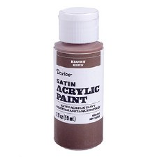 Satin Acrylic Paint, 2oz- Brown