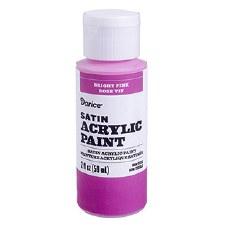 Satin Acrylic Paint, 2oz- Bright Pink