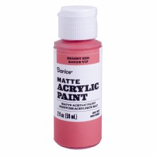 Satin Acrylic Paint, 2oz- Bright Red