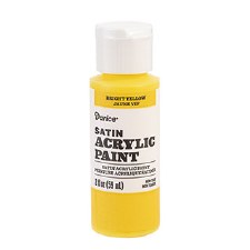 Satin Acrylic Paint, 2oz- Bright Yellow