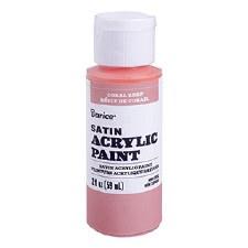 Satin Acrylic Paint, 2oz- Coral Reef