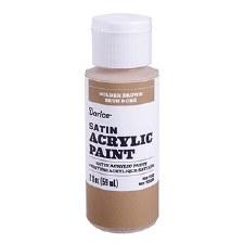 Satin Acrylic Paint, 2oz- Golden Brown