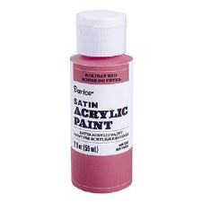 Satin Acrylic Paint, 2oz- Holiday Red