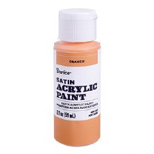 Satin Acrylic Paint, 2oz- Orange