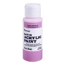 Satin Acrylic Paint, 2oz- Pink Chiffon