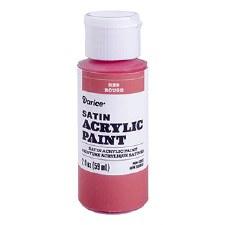 Satin Acrylic Paint, 2oz- Red