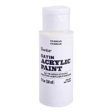 Satin Acrylic Paint, 2oz- Vanilla
