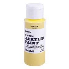 Satin Acrylic Paint, 2oz- Yellow