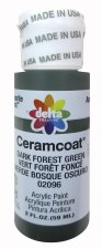 Delta Ceramcoat Acrylic Paint, 2oz- Greens: Dark Forest Green