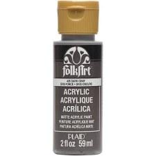 FolkArt 2 Oz. Acrylic Paint- Dark Gray