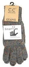 CC Knit Gloves- Confetti Dark Grey