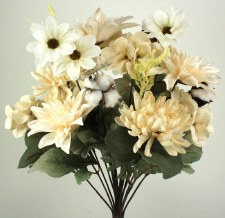 Gather by Nicole Floral Bush- Dahlia & Mum, Ivory
