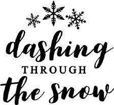 Dashing Through The Snow Vinyl- White