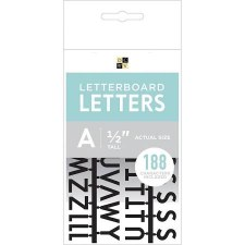 "DCWV Letterboard 1/2"" Letters- Black"