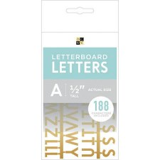 """DCWV Letterboard 1/2"""" Letters- Gold"""