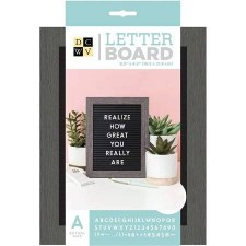 DCWV Framed Letterboard 5x7- Gray & Black