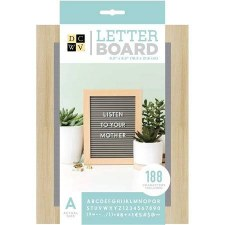 DCWV Framed Letterboard 5x7- Oak & Gray