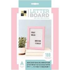 DCWV Framed Letterboard 5x7- Pink & White