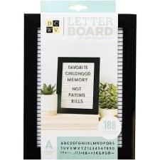 DCWV Framed Letterboard 5x7- Black & White