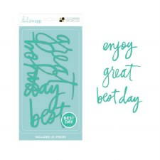 DCWV Letterboard Words- Heidi Swapp, Best Day