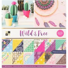 12x12 DCWV Paper Stack- Wild & Free