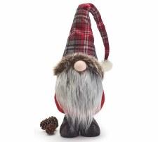 "Gnome w/ Plaid Hat- 27"""
