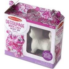 Melissa & Doug Decoupage Made Easy Craft Set- Kitten