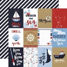 Deep Blue Sea 12x12 Paper- 3x4 Cards