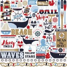 Deep Blue Sea 12x12 Sticker Sheet