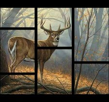 Nature & Wildlife Fabric Panel- Deer