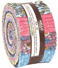 Roll-Up Fabric Strips- Delphine Spring Colorstory